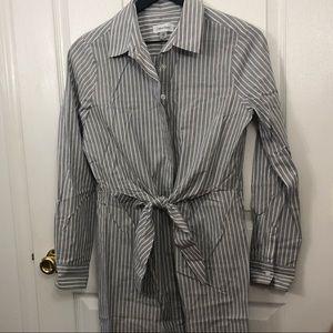 Calvin Klein button down tie front dress